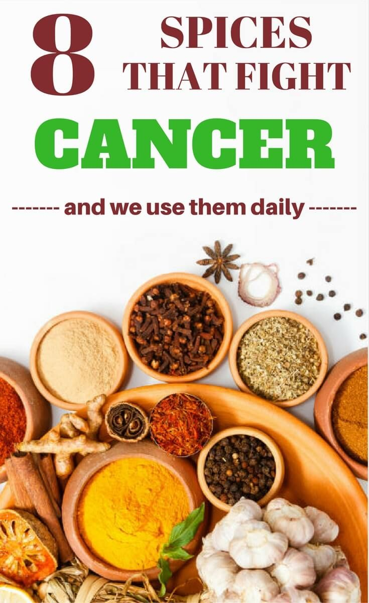 Herbs and spices that kill cancer and eliminate cancerous cells.