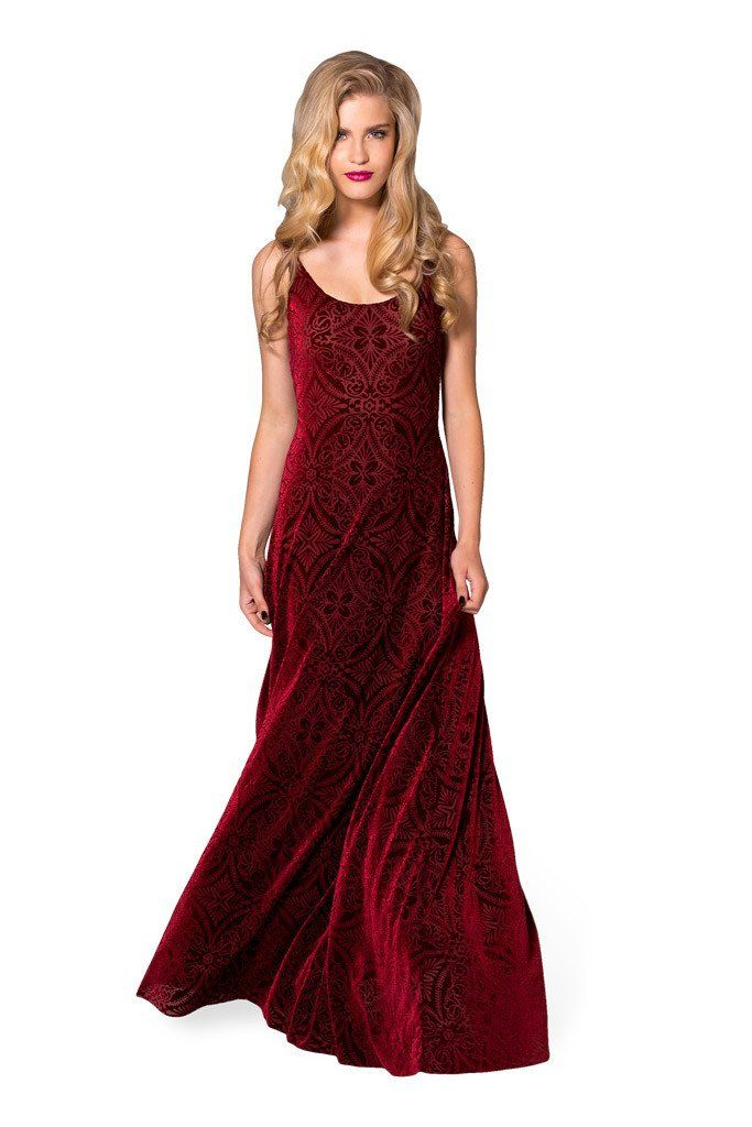 Burned Velvet Wine Maxi Dress - Back in stock 17.11. 2016