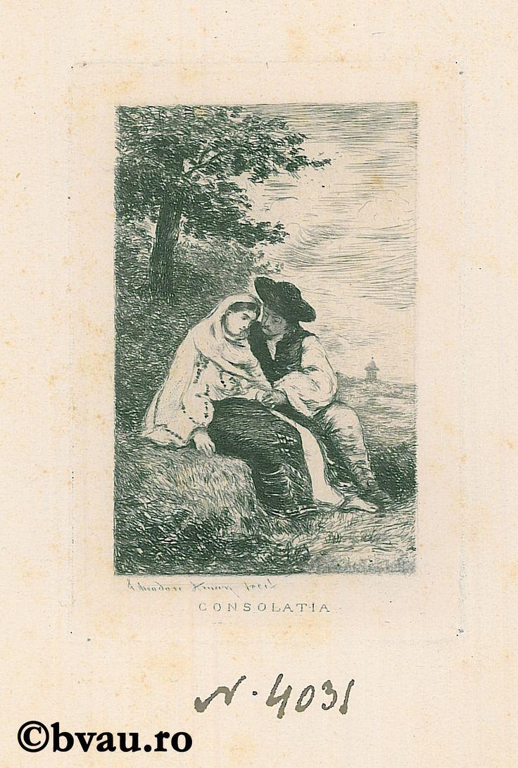 """Theodor Aman, Consolația. Imagine din colecțiile Bibliotecii """"V.A. Urechia"""" Galați."""