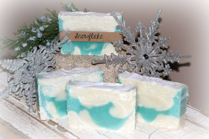 Natural soaps by Jessica  Snowflake $5  This is the newest bar of soap available  It is a creamy, buttery soap and the scent is designed to mimic the feeling of peace and tranquility after a fresh snowfall. It is reminiscent of clean laundry or fresh cotton hung out on the line on a wintery day. It has notes of spring water, juniper berry and sandalwood ~ A must try!! smile emoticon