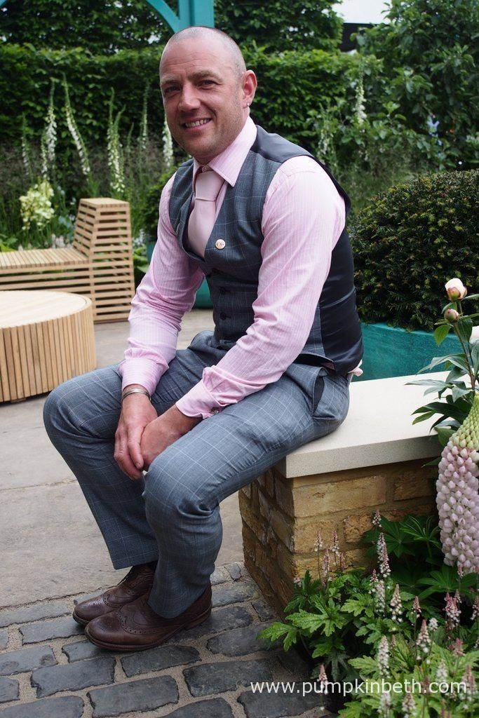 Jon Housley, pictured in the '500 Years of Covent Garden' The Sir Simon Milton Foundation Garden in Partnership with Capco, at the RHS Chelsea Flower Show 2017. Jon Housley and '500 Years of Covent Garden' - Pumpkin Beth