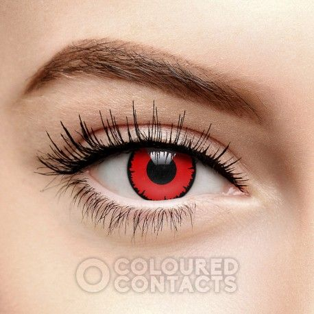 Red Angelic Colored Prescription Contact Lenses (90 Day)