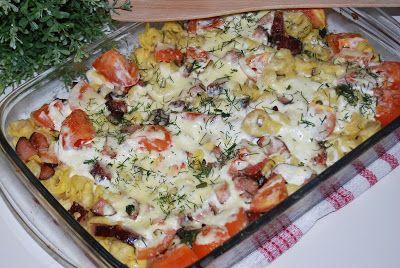 O kuchni z uczuciem : Tortellini zapiekane z boczkiem