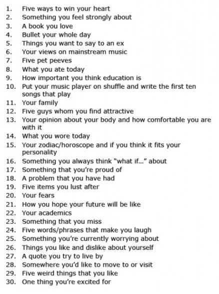 30 day journaling prompts to learn more about yourself. -sas thinking about writing today.. think i may start doing this