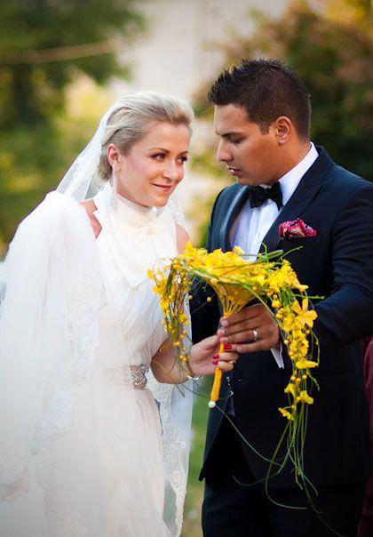 Mokara and oncidium bridal bouquet by NO NO NO