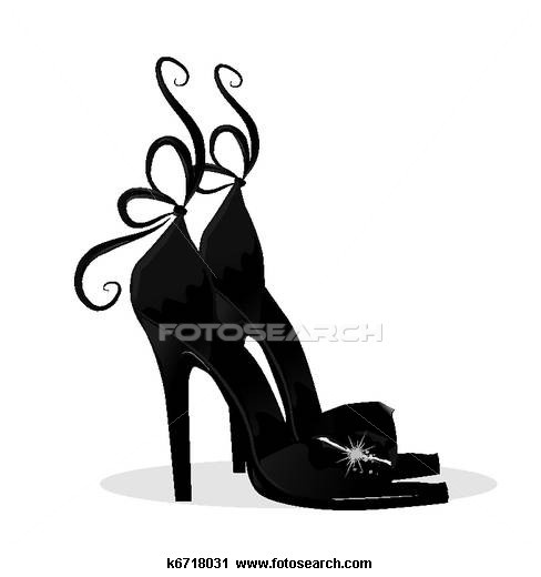 Clipart of Black shoes - Search Clip Art, Illustration Murals, Drawings and  Vector EPS Graphics Images -
