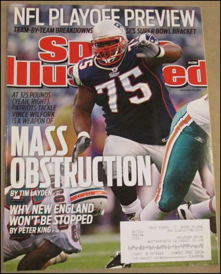 1/10/2011 Sports Illustrated Vince Wilfork New England Patriots NFL Playoffs