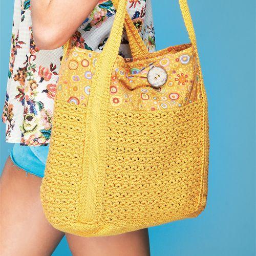 Summer beach bag by Helen Ardley - free knitting pattern ...