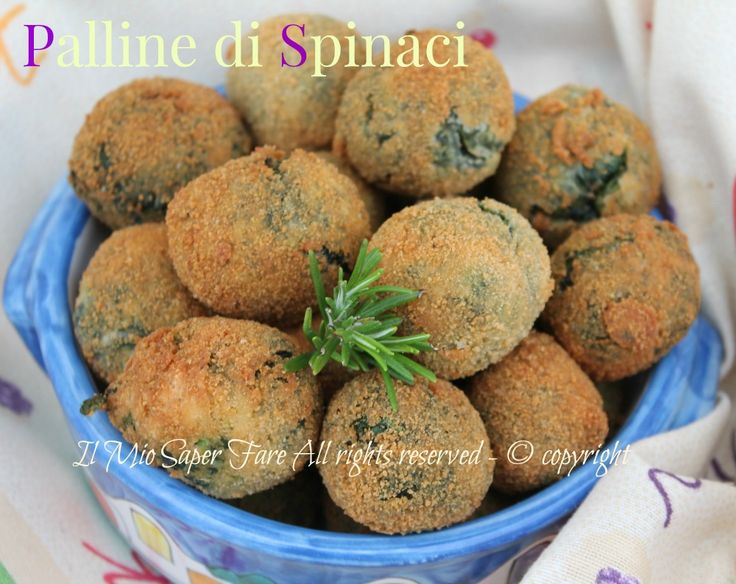 Palline di spinaci fritte ricetta facile