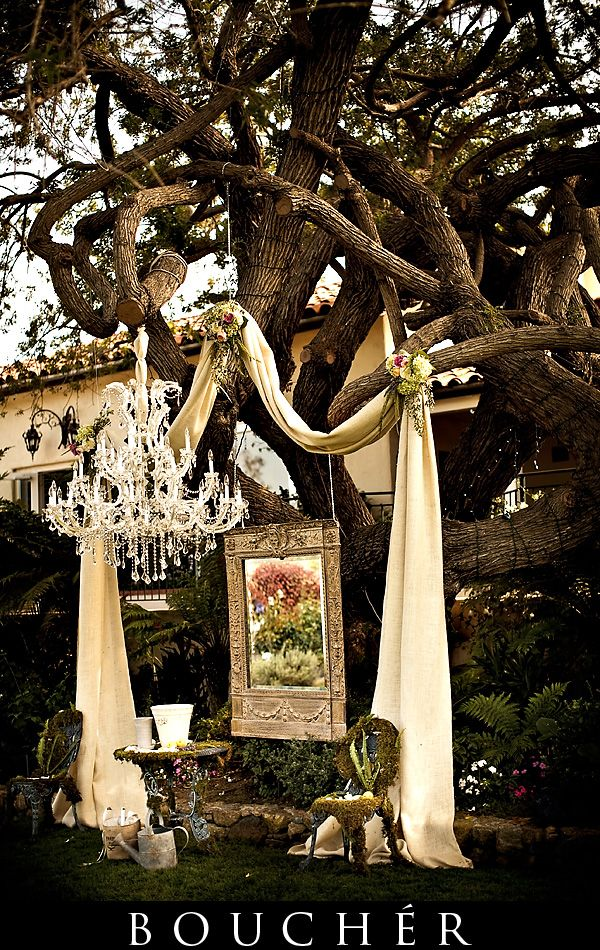 Wedding alter or simply a beautiful backdrop for an outdoor party. For Lynnette.