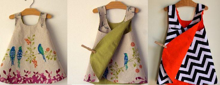 Infantil: Vestidinho Envelope | molde, corte e costura – Marlene Mukai