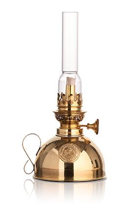 Swedish Brass Oil Lamp (Dome Base) - Kaufmann Mercantile
