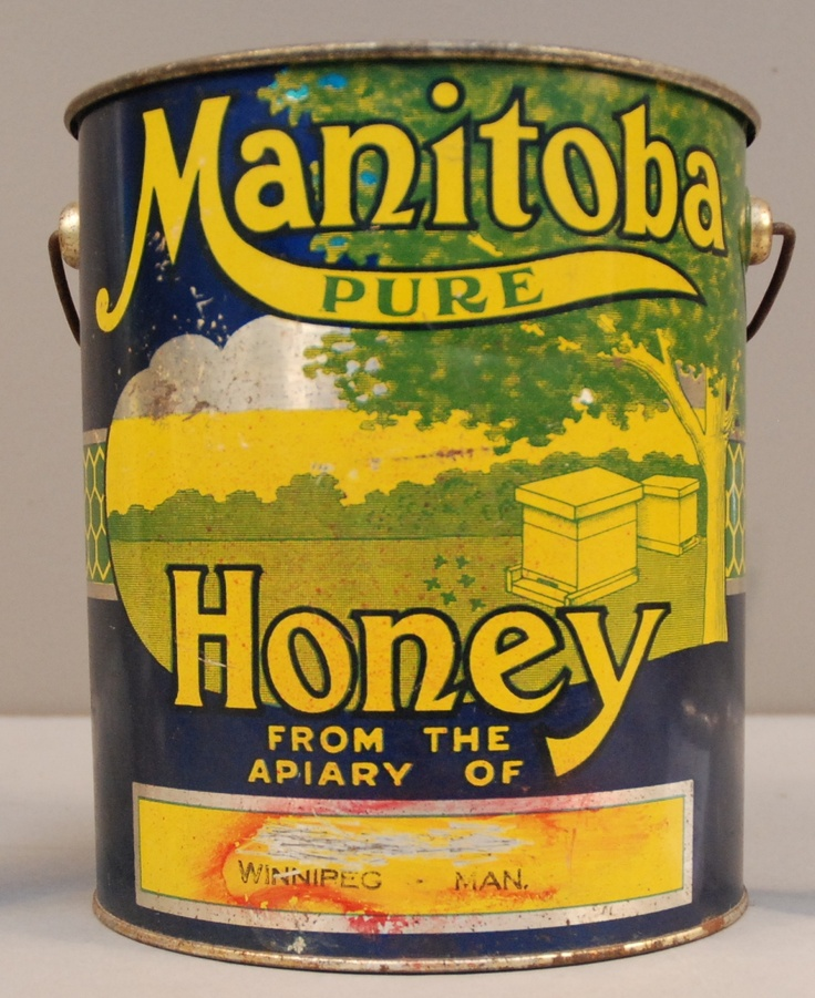 Honey can from 1920's - 1930's Manitoba apiary