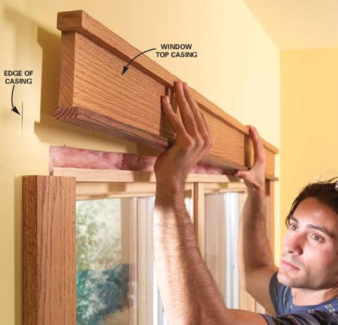 molding above windows and doors- may make them seem larger