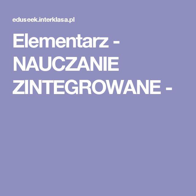 Elementarz - NAUCZANIE ZINTEGROWANE -