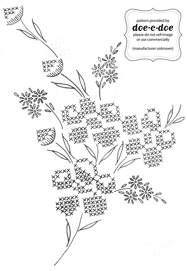Floral cross-stitch pattern
