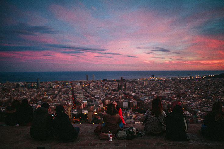 Гледка към Барселона от Бункерите на Кармел