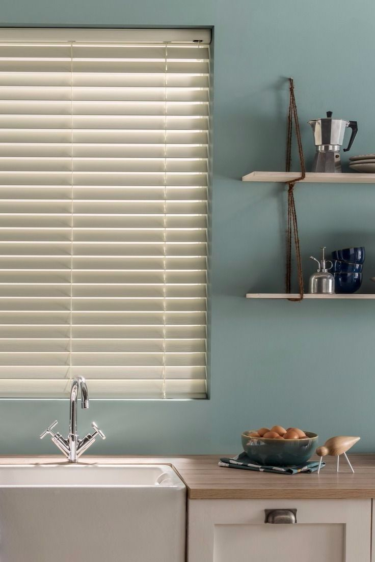 The stylish off-white shade of our Cool Ivory Fauxwood blind is perfect for teaming with a whole host of colour schemes. The neutral shade coupled with the Fauxwood material that means it won't warp in steamy conditions like kitchens and bathrooms makes it a favourite for pretty much any space.