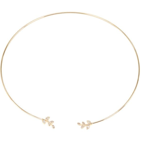 ShoeDazzle Necklaces High Collar Womens Gold ❤ liked on Polyvore featuring jewelry, necklaces, gold, gold leaf necklace, yellow gold necklace, thin gold necklace, thin necklace and gold jewelry