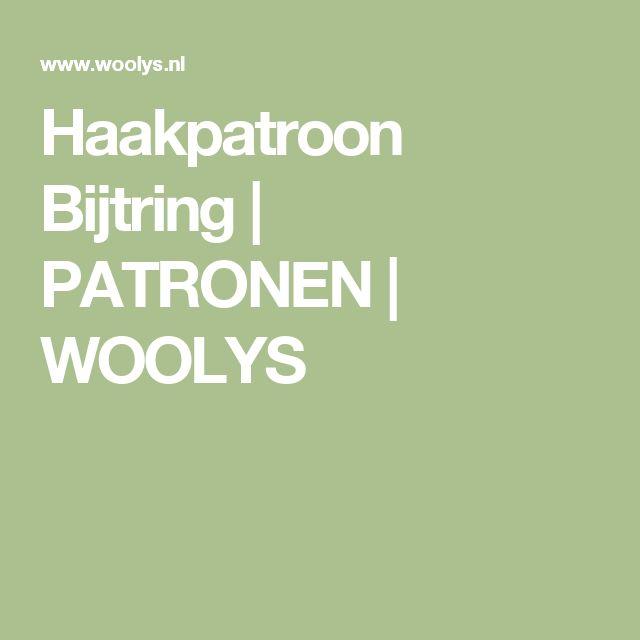 Haakpatroon Bijtring | PATRONEN | WOOLYS