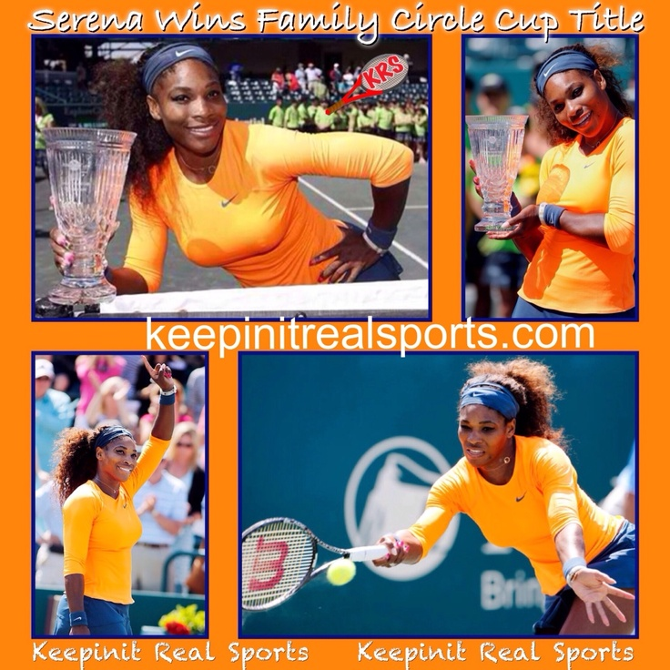 Keepinit Real Tennis News: Serena Williams Wins Family Circle Cup Title  Serena Williams defeated Jelena Jankovic 3-6, 6-0, 6-2 Sunday for her second consecutive Family Circle Cup title. It took a feisty exchange with Jelena Jankovic for Serena Williams to calm down. Then, settled and able to return to business, she was a winner once more.