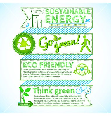 Go green poster vector - by alevtina on VectorStock®