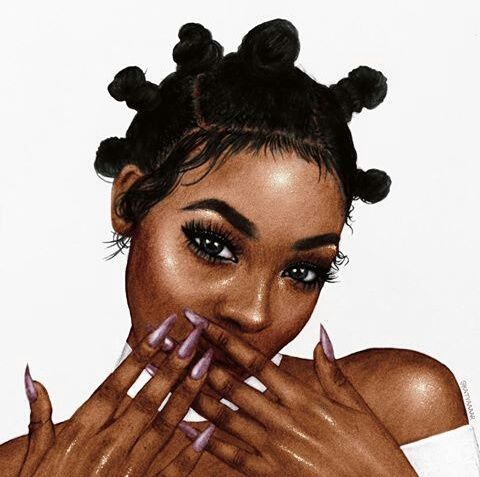 1000 images about black girl art on pinterest cartoon - Female cartoon characters wallpapers ...