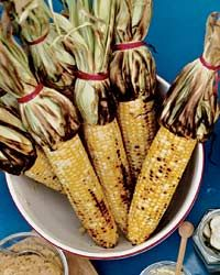 Grilled Corn with Mango-Habañero Butter // More Grilled Corn Recipes: http://fandw.me/u0l #foodandwine