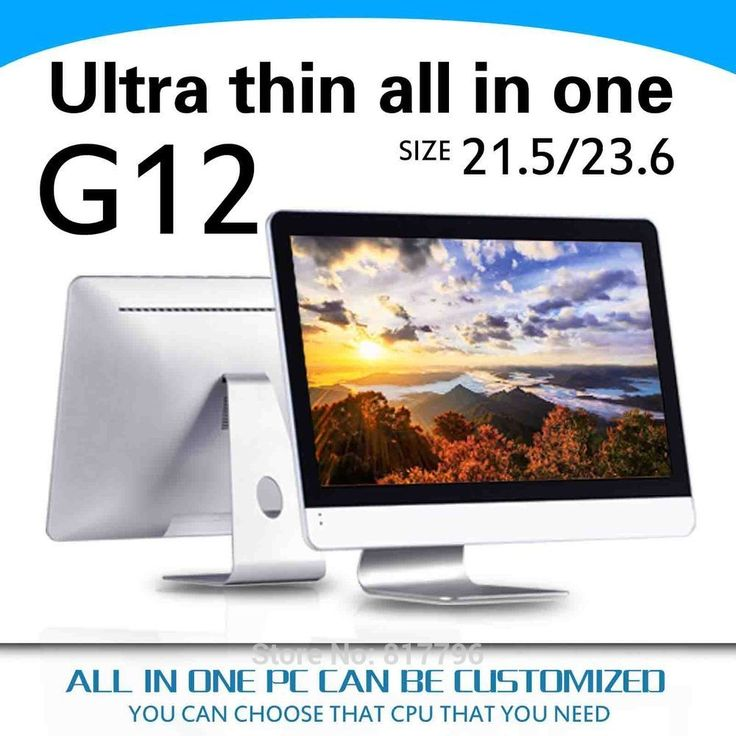 All in one pc i5 4570Y 4200Y support VGA HDMI optional ram and hdd with Mouse and keyboard a fan desktop computer electronics
