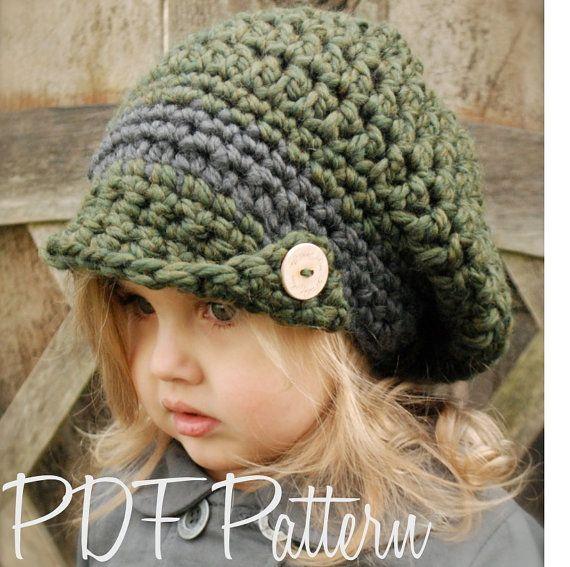 Crochet PATTERNThe Addyson Slouchy Toddler Child door Thevelvetacorn, $5.50
