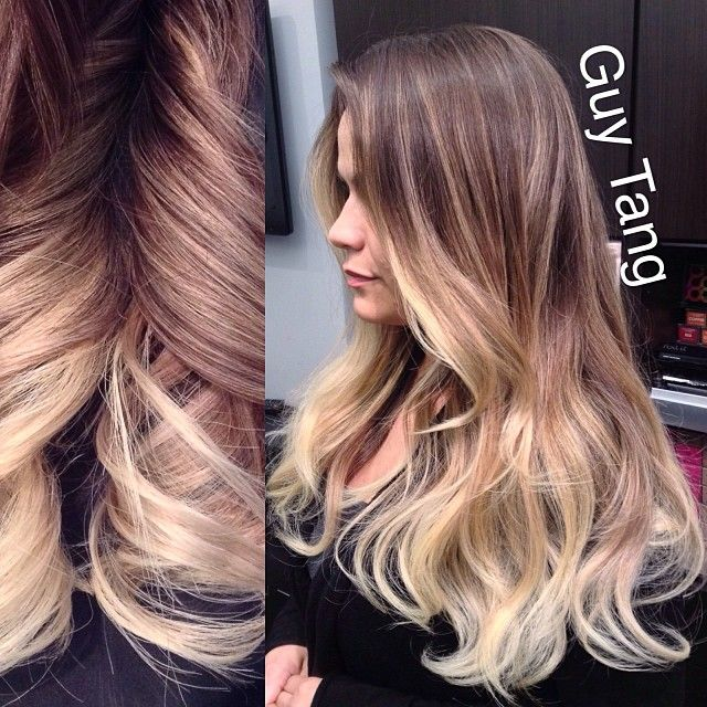 Guy Tang , Dont you just love this high contrast balayage ombre?