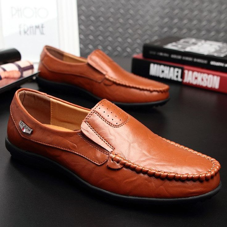 Washed Calf Leather Loafers