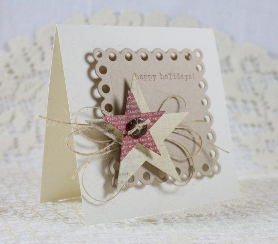 Handmade Holiday Christmas Greeting Card by EndlessInkHandmade