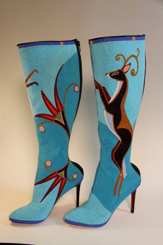 Jamie Okuma's beaded Christian Louboutin boots