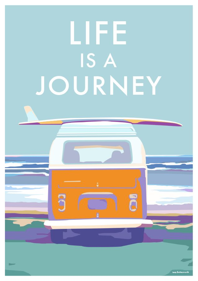 Surf - #artwork #poster #hang #loose  #ocean #paddle #illustration #surfe #oceano #ilustração Camper van vintage style railway travel posters at…
