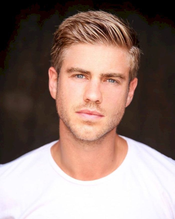 35 Simple but Trendy Short Blonde Haircut for Men