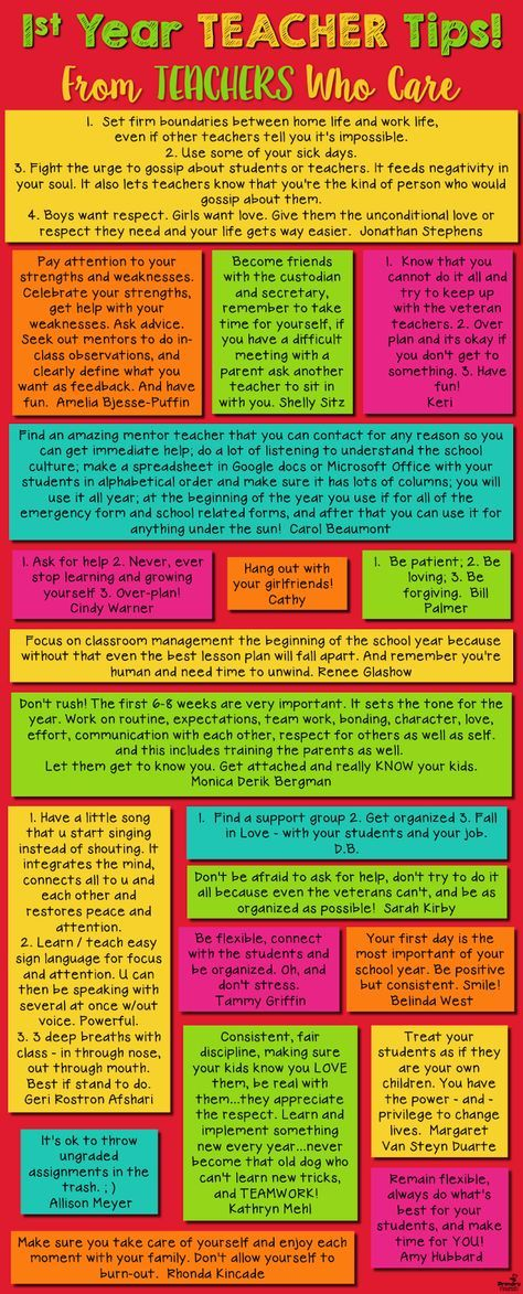 Amazing advice and encouragement for new teachers, from teachers who care!