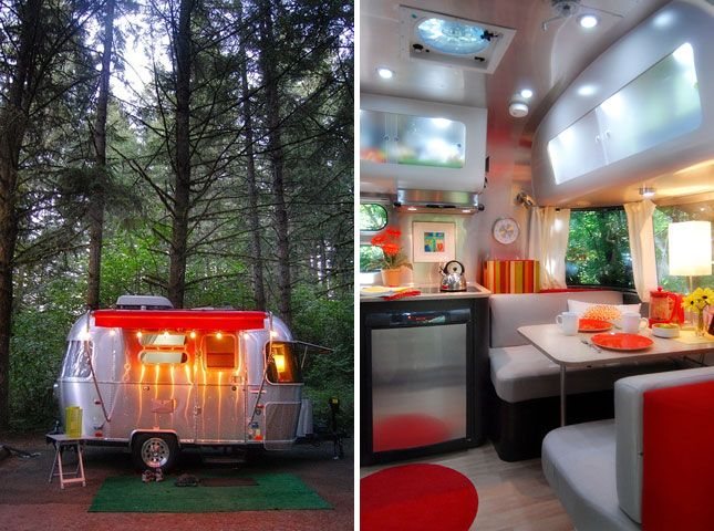 The Small Small Trailer Bambi | 20 Dreamy Trailers - wow, this would make me actually enjoy camping, or going with my husband to the races.