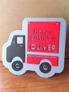LaceTopDesigns: Truck shaped Craft Robo card