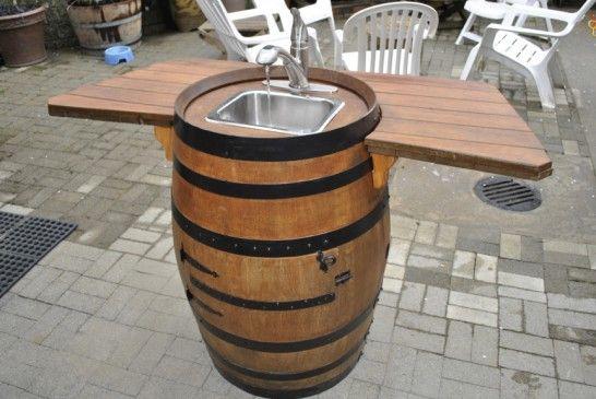 Barril de vino del fregadero Tutorial