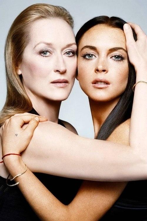 Meryl Streep and Lindsay Lohan: Lindsey Lohan, Favorite Celebs, Lindsay Lohan, Famous Faces, W Magazines, Merylstreep, Magazines Covers, Meryl Streep, Lindsaylohan