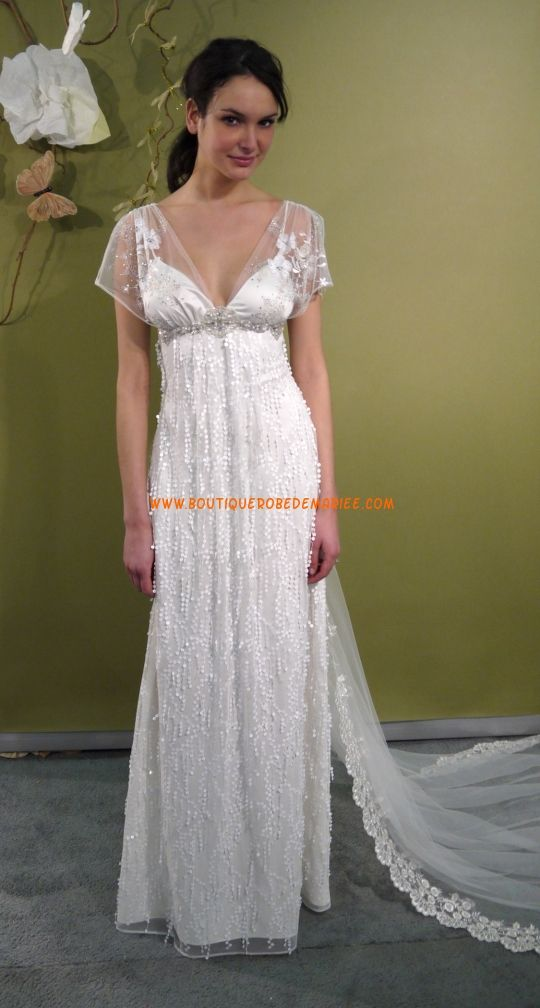 Robe style empire dentelle