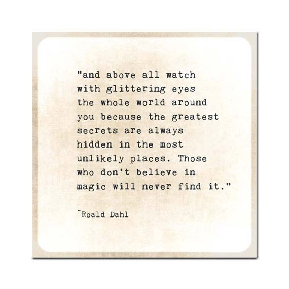Roald Dahl Quote Inspiring Words Gold Golden Quote Typography Inspirational Quote Love Family Nursery Print Wall Decor Print on Etsy, $8.00
