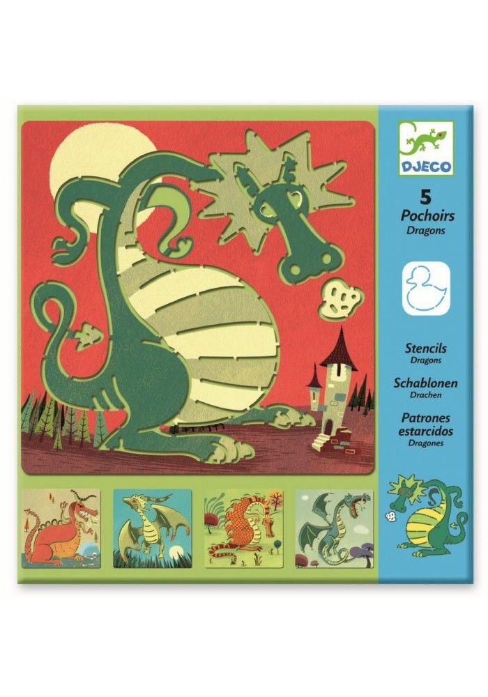 Djeco Sjablonen: draken