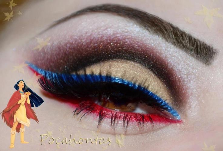 artistic makeup of Pocahontas