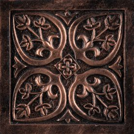 Emser 4 In X 4 In Camelot Copper Metal Square Accent Tile