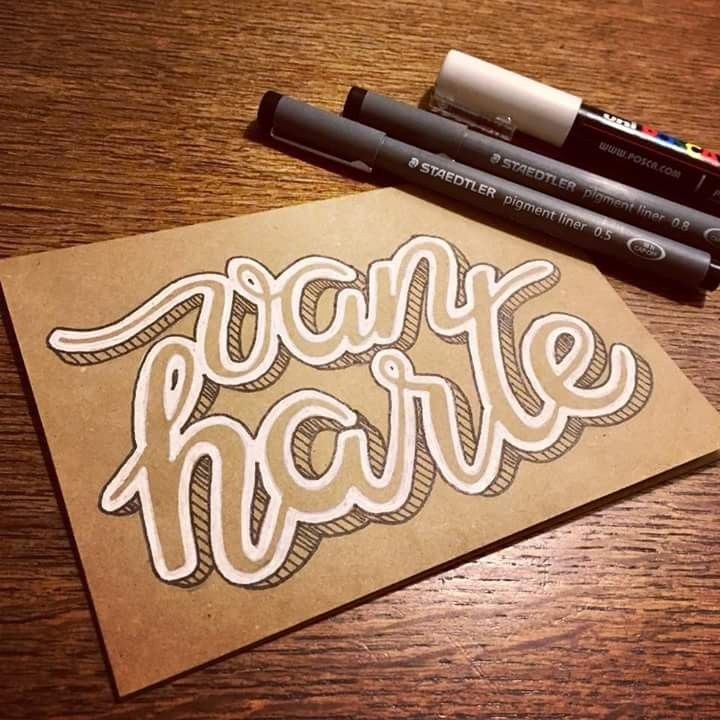 "Amazing! _ have you seen that? Great piece of hand written letters on a simple brown paper... yet still looking ""hot"" (yes, I know I know, it's just a pen and paper - but I still love it!) #handwritten #lettered #penandpaper #lettering"