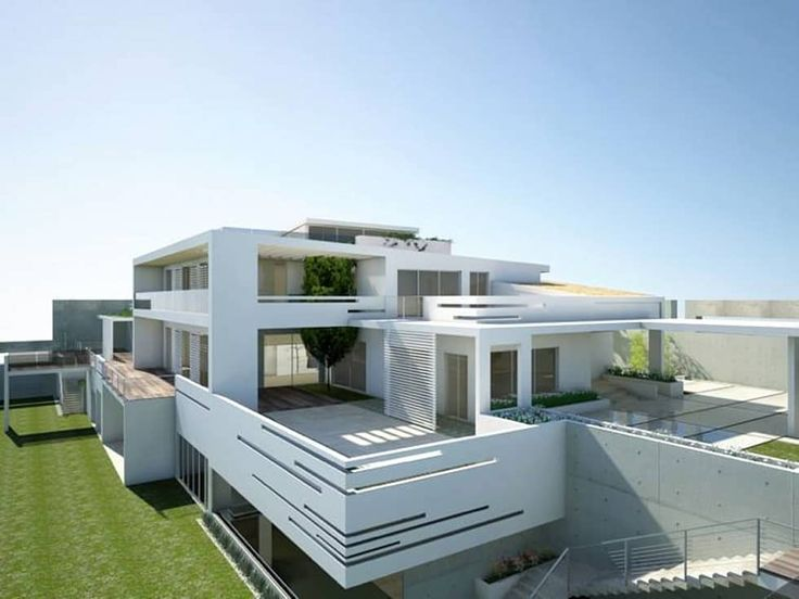 Fase Analitica Progettuale e renderizzazioni nuova villa 1250 mq.- Analytical phase, design and renderings for New Villa, total 1250mq: Case in stile in stile Mediterraneo di MELLINACORTISTUDIO