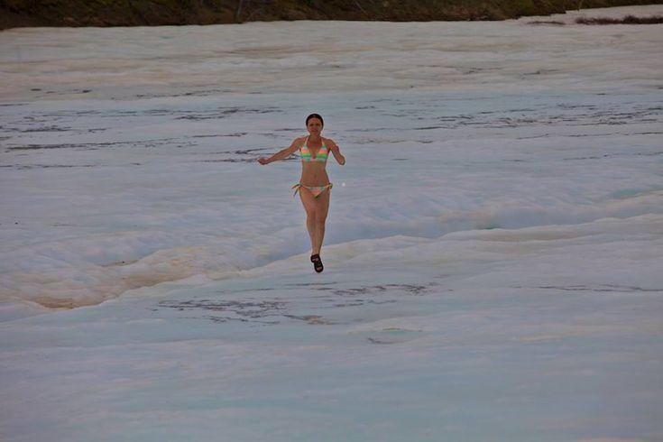 Running in ice.