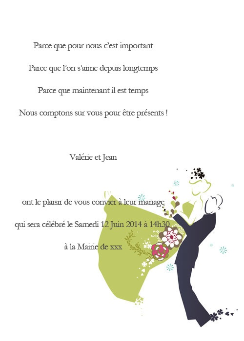 Fabuleux 23 best Invitation au mariage images on Pinterest | Marriage  BR58